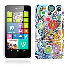 Nokia Lumia 630 / 635 Case Silicone Gel TPU Cover with Beautifull Flower Design for Girls - White / Red / Orange / Green / Purple / Blue Flowers