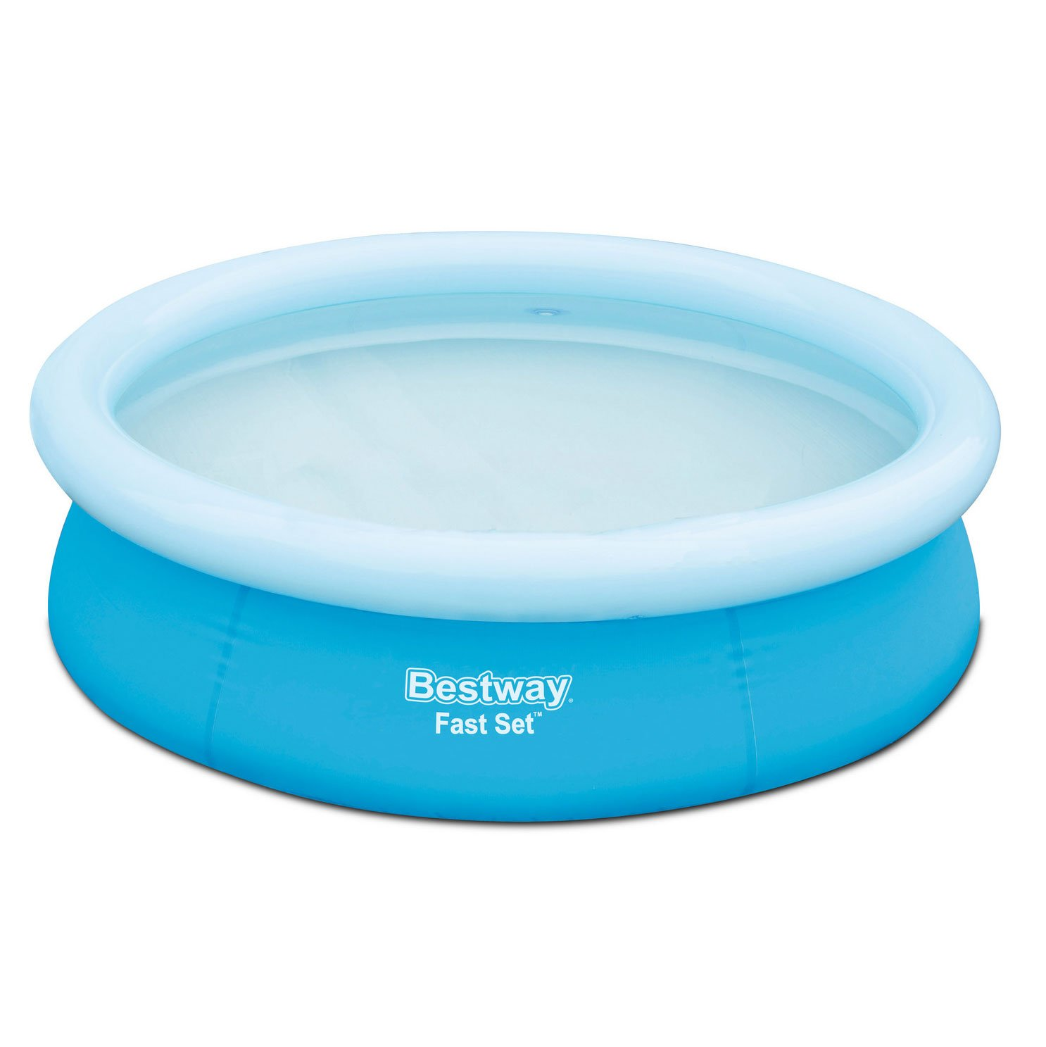 Bestway 6' x 20'' Fast Set Round Inflatable Above Ground Kids Swimming Pool, Blue