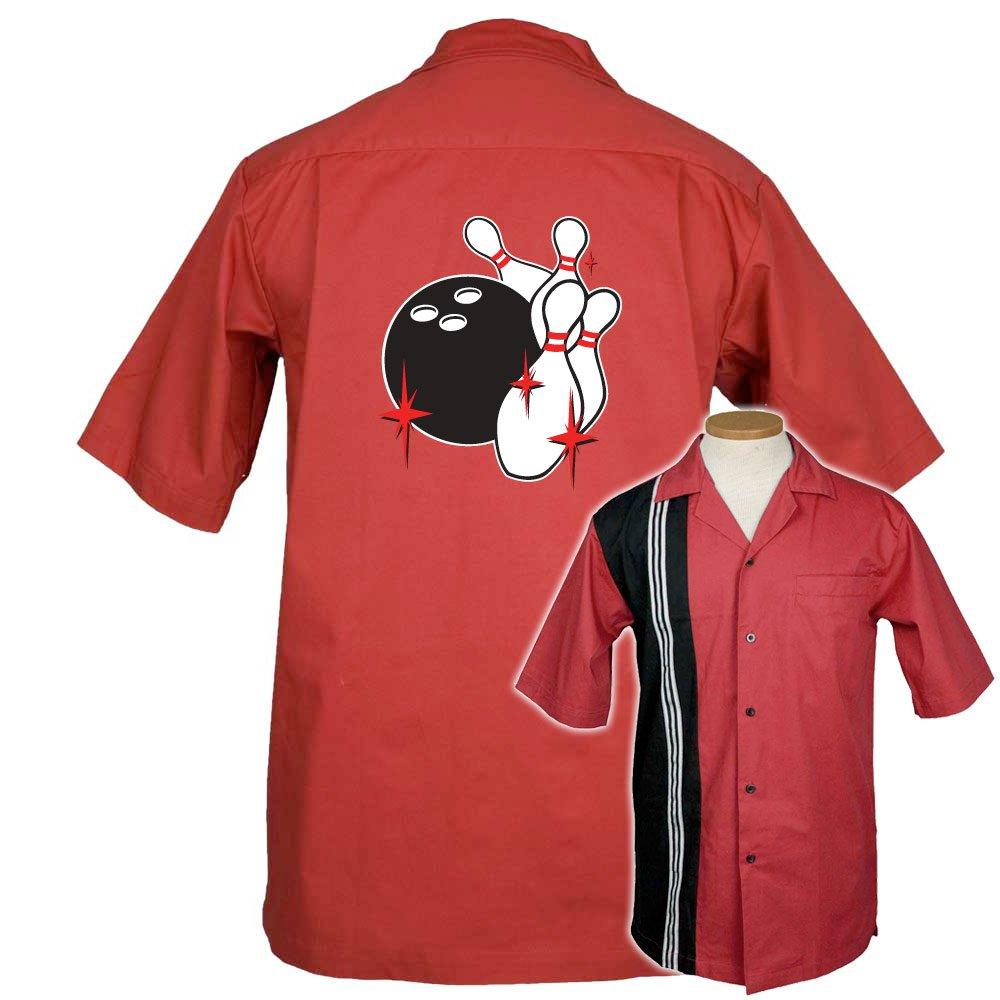 Pin Splash C Stock Print on The Dude Bowling Shirt