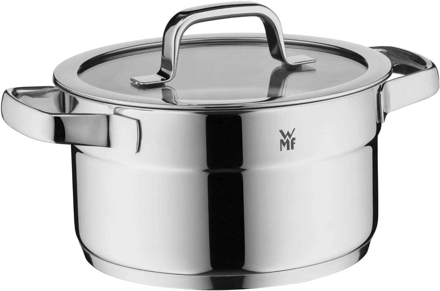 WMF Compact Cuisine 4-Piece Cookware Set with Glass Lid//Saucepan//Cromargan Polished Stainless Steel//Induction//Internal Scale//Stackable