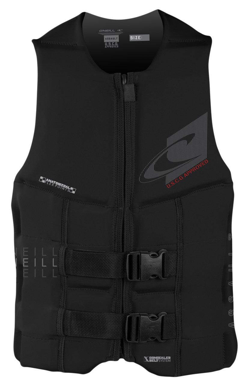 O'Neill Wetsuits  Men's Assault USCG Life Vest,Black,Medium by O'Neill Wetsuits (Image #1)