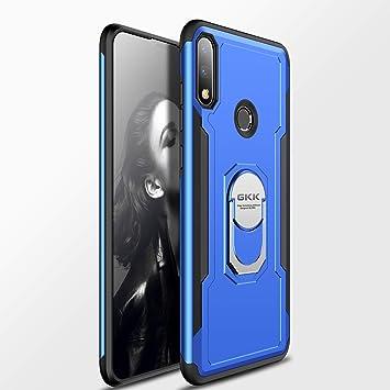 Custodia® Firmness Smartphone Funda Carcasa Case Cover Caso con Anillo para ASUS Zenfone MAX Pro(M2) ZB631KL(Azul)