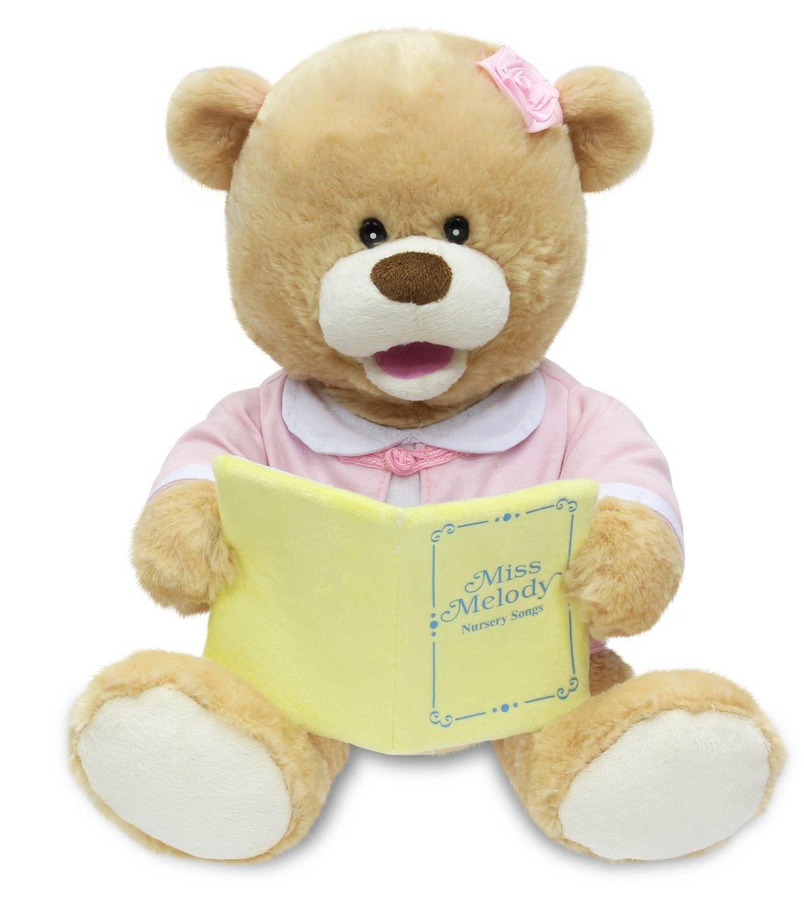 amazon com cuddle barn new animated singing teddy bear plush toy