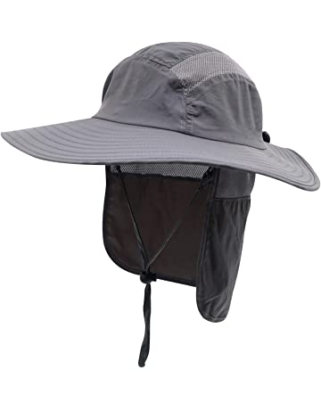 b2fedde2cdf Home Prefer Mens UPF 50+ Sun Protection Cap Wide Brim Fishing Hat with Neck  Flap