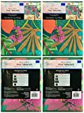 Mainstays Vinyl Tablecloth 52 x 70 Twin Pack Tropical Theme, Pineapple Theme