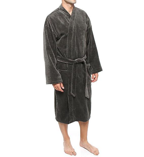 Polo Ralph Lauren Hombre Kimono Velour Albornoz - Gris - Small/Medium