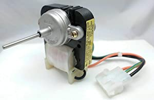 NEW Primeco WR60X10168 Condenser Motor Compatible with GE, Kenmore made by OEM Part Manufacturer, PS967022, AP3855309, WR60X10018, WR60X10021, WR60X10028, WR60X10061, WR60X10153-1 YEAR WARRANTY