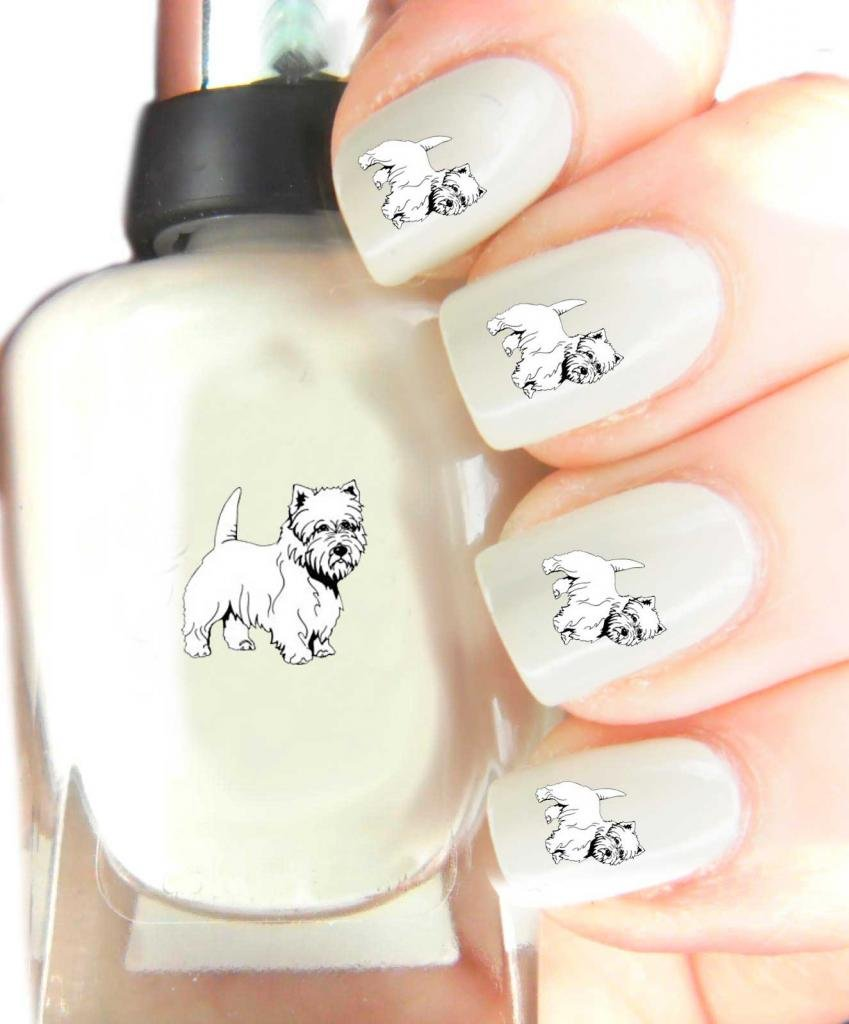 Amazon.com: Easy to use nail art transfer stickers Westie by CLR: Beauty