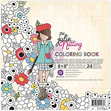 Prima Marketing 911676 Julie Nutting Colouring Book, Multi-Colour, 8 ...