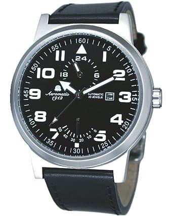Automatik Uhr Power Reserve Und 24h Anzeige Im Fliegerstil Amazon