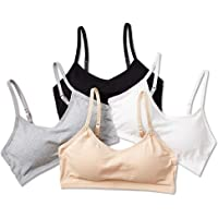 SALIA GIRL Seamless Teen Girls Bra Wirefree Training Bras with Adjustable Straps, Back Closure Design, 4-Pack
