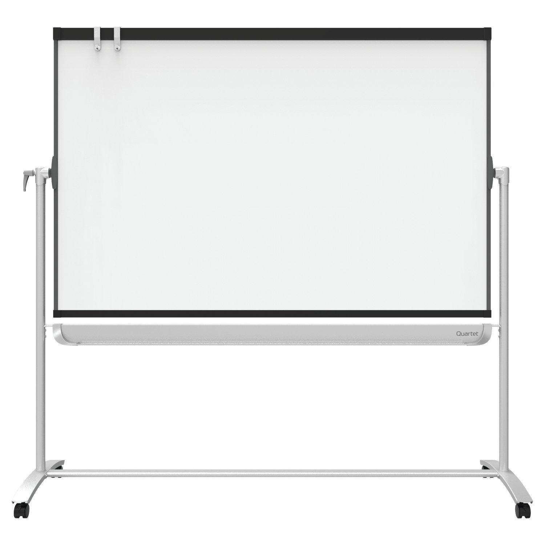 Quartet Presentation Easel, 6' x 4', Mobile, Reversible Magnetic Whiteboard / Flipchart, Prestige 2 Mobile, Graphite Frame (ECM64P2)