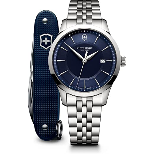 Victorinox Swiss Army 241802.1 Alliance - Reloj para hombre (acero inoxidable, 40 mm), color plateado: Amazon.es: Relojes