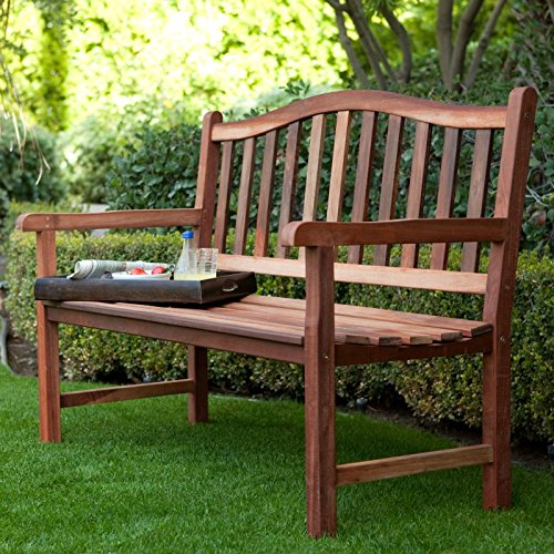 Coral Coast Richmond Curved Back Outdoor Wood Storage Bench by Coral Coast