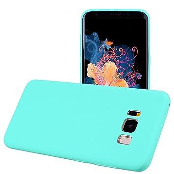 Yunbaozi Funda Compatible para Samsung Galaxy S8 Plus Protective Case Carcasa Caucho Funda Protectora de Silicona Caramelo Ultra Suave Flexible ...