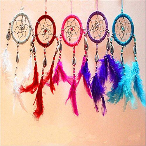 Bazaar Pure Fantasy Feathers Ring Wind Chime Dream Catcher Campanula Hanging Ornament