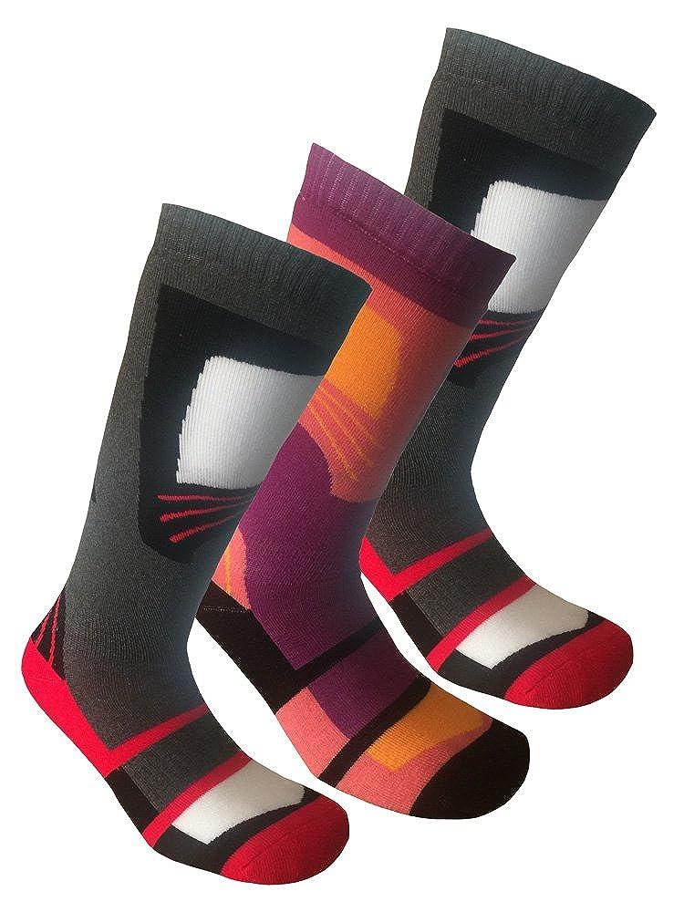 3 Pairs High Performance Ladies Ski Socks Long Hose Thermal Socks