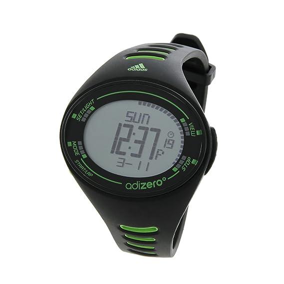 adidas Adizero ADP3501 - Reloj digital de cuarzo para hombre, correa de plástico color negro