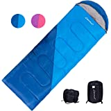 Clostnature Lightweight Backpacking Sleeping Bag - All Weather Waterproof Camping Sleeping Bag for Adults, Youths, Women, Men's Hiking Mountaineering Travel - Compression Sack Included