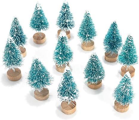 WAOBE Árbol De Navidad En Miniatura, 12/24 / 36 PC Mini Sisal ...