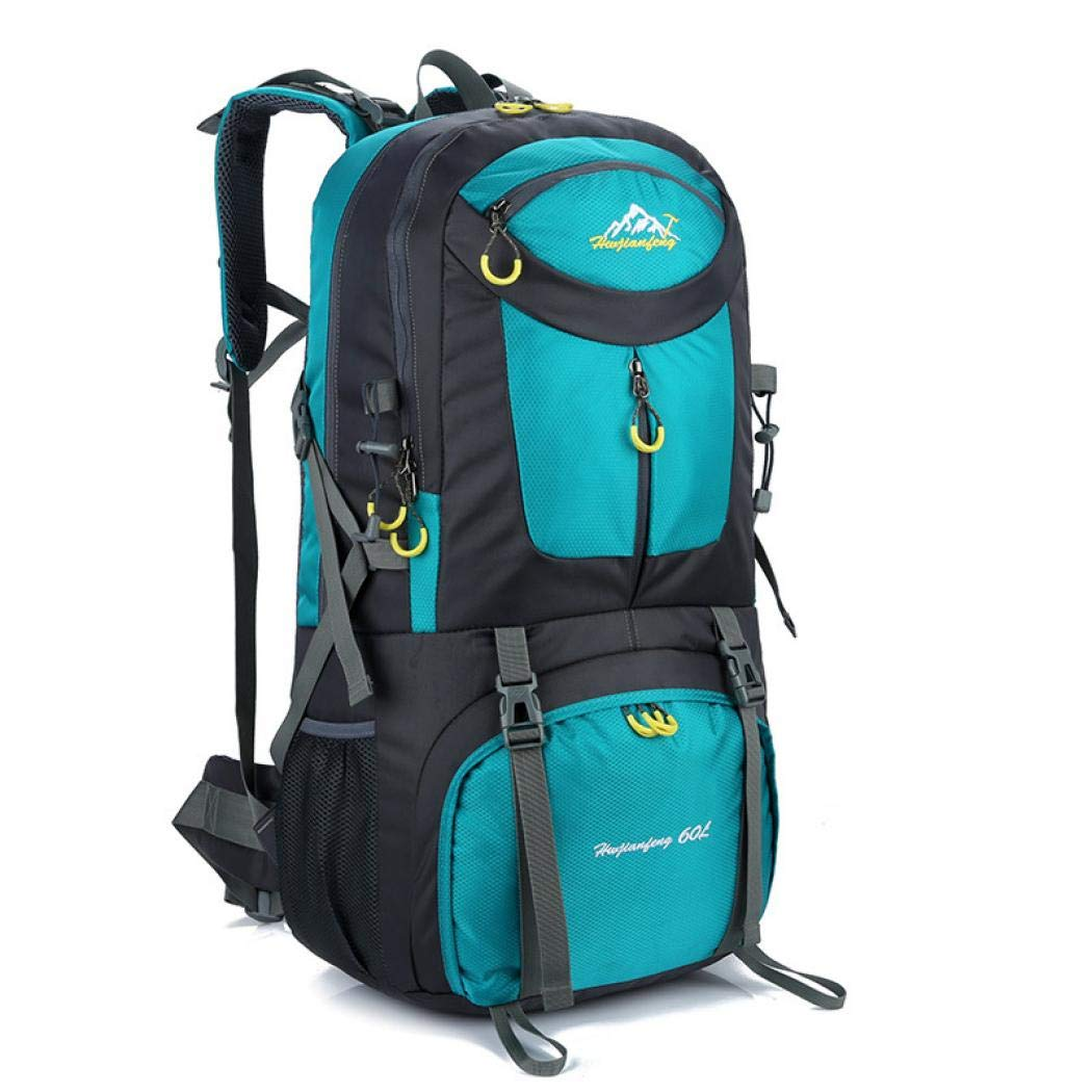 e9486ad1058f Amazon.com   LEAFIS Large 60L Hiking Backpack Waterproof Nylon Packable  Lightweight Travel Backpack Daypack Camping Backpack Women Men Adults (Acid  Blue