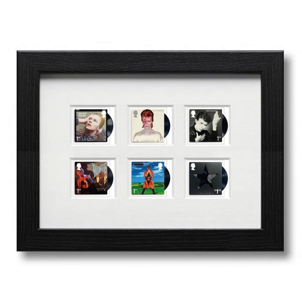 David Bowie FRAMED Six Album Covers Collectible Postage Stamp Set - Royal Mail