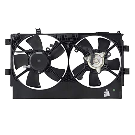 DNA Motoring OEM-RF-0224 MI3115140 Factory Style Radiator Cooling Fan Assembly Replacement