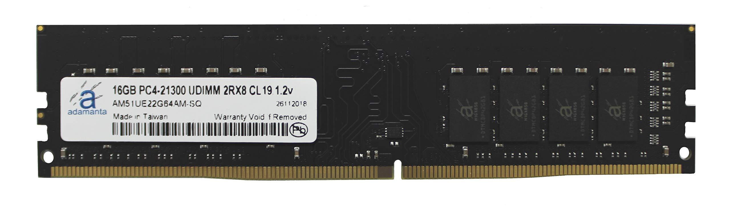 Memoria RAM 16GB Adamanta (1x16GB) Upgrade DDR4 2666Mhz PC4-21300 Unbuffered Non-ECC UDIMM 2Rx8 CL19 1.2v DRAM RAM