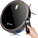 Coredy Robot Vacuum Cleaner with Mop and Water Tank, 1400pa High Suction, Super Thin, Extremely Quiet, Self-Charging Robotic Vacuum, Cleans Hard Floors and Medium-Pile Carpets, Designed for Pet Fur