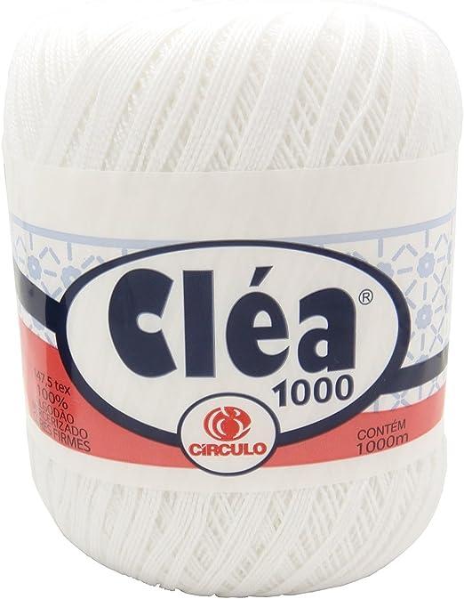 Ovillo grande de hilo de algodon color blanco. Para crochet y ...