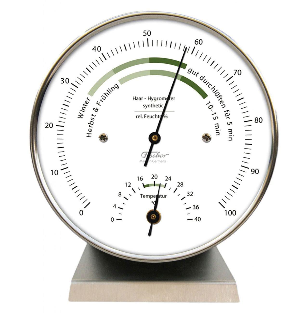 Fischer 122.01HT Hygromètre Boîtier acier inoxydable 100 mm (Import Allemagne) Fischer_143CR
