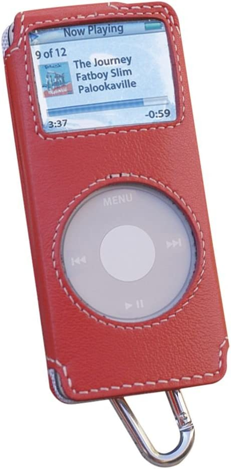Covertec Luxury Pouch Case for iPod Nano - Nappa Leather (Raspberry)