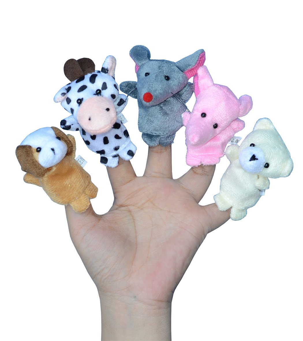 Finger Puppets for Children, Velvet Cute Animal And Family Style, Shows, Playtime, Schools Dolls Props Toys - 16 Different Set by leilaliya (Image #2)