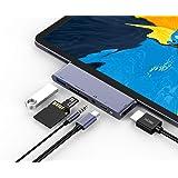 RAYROW USB C Hub for iPad Pro 2018 2020 iPad Air 4, 6 in 1 USB C ipad Adapter with USB 3.0, SD/TF Card Reader, 3.5mm…