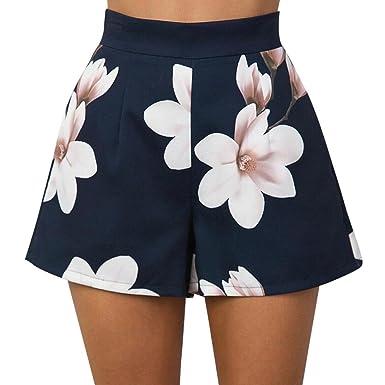 Luckde Strandhose Damen Sommer Cargo Rock Frauen Bermuda Shorts