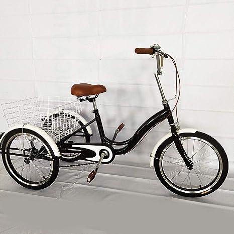 BTdahong Triciclo para Adultos, Bicicleta de 3 Ruedas de 20 ...