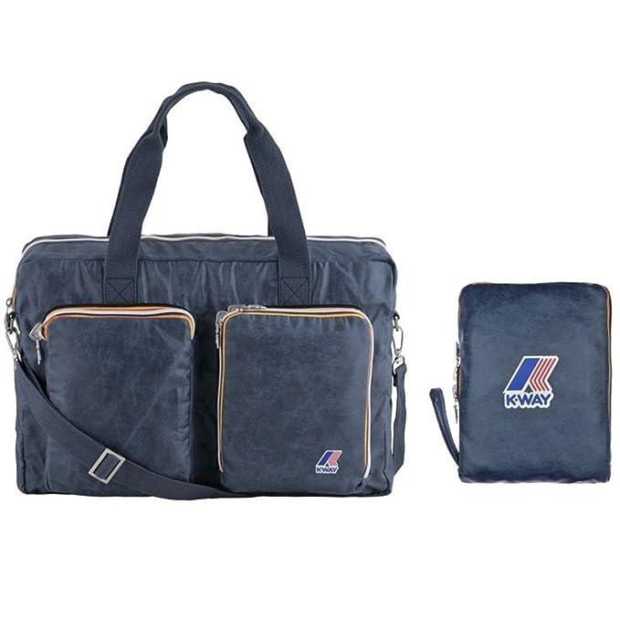 7f66949f0976 Borsa Borsone Viaggio Palestra Uomo Donna K-Way Bag Men Woman K-Fold  Briefcase K1515-Blu  Amazon.it  Abbigliamento