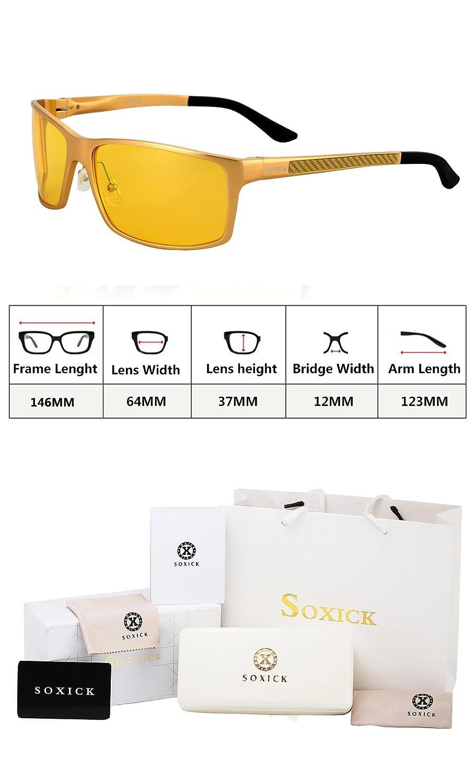 2b8e95616ab5 Amazon.com  Anti-Glare Polarized Yellow Lens Day   Night Driving Glasses  for Men   Women  Clothing