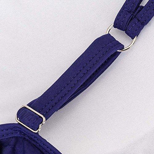 Aschoen - Bikini de rayas y traje de baño Blau-Punkt