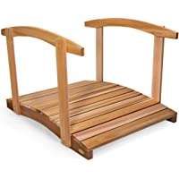 All Things Cedar FB48-R Garden Foot Bridge with Hand Rails, 4'