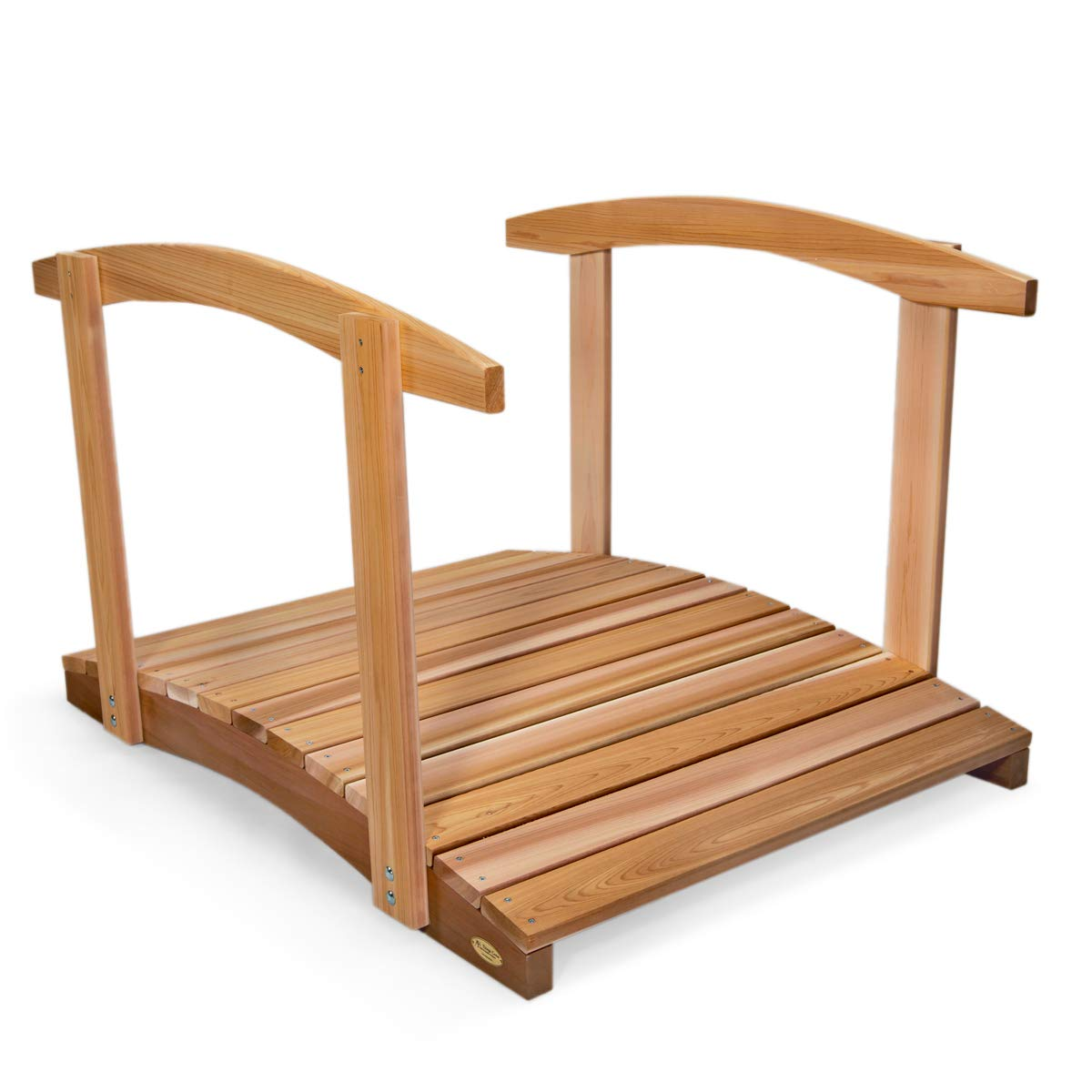 All Things Cedar FB48-R Garden Foot Bridge with Hand Rails, 4' by All Things Cedar (Image #1)