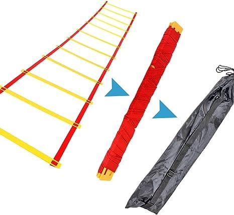 UanPlee 3m (9.84ft) Juventud Equilibrio Capacidad Agilidad Escalera De Formación De Ritmo Pie Escalera De Formación De La Capacidad De Rebote Escalera De Formación De Agilidad (Size : 3m/9.84ft): Amazon.es: Deportes y