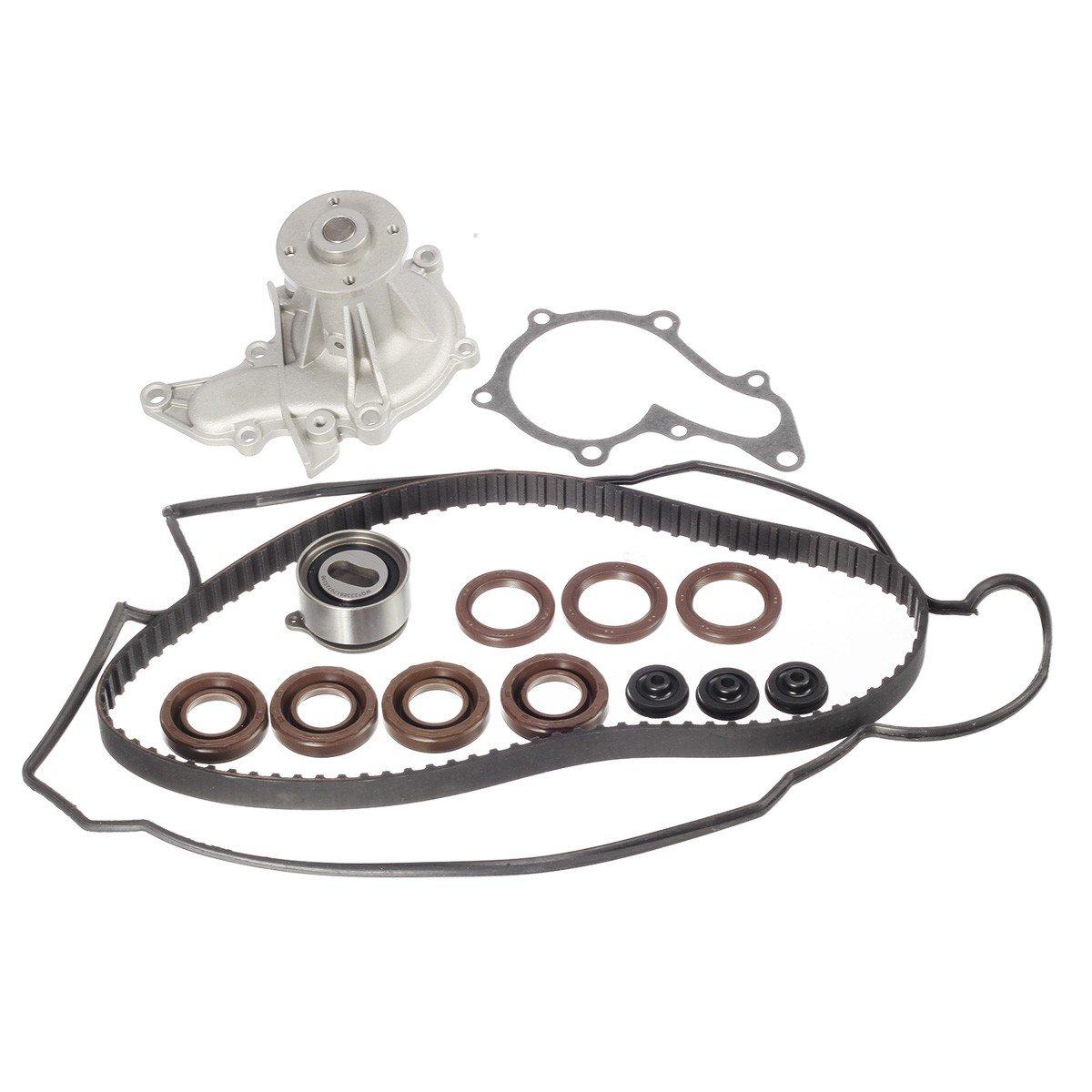 TBK236WPT Timing Belt Kit Valve Cover Gasket Water Pump for 1993-1997 Toyota Corolla Geo Prizm 1.6L DOHC 4AFE Vincos