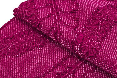 帯揚げ 赤紫 パープル 藤 花 正絹 総絞り 鹿の子 帯上げ 帯あげ 成人式 振袖用