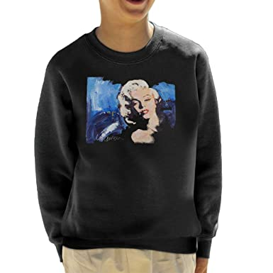 Sidney Maurer Original Portrait of Marilyn Monroe Blonde Bombshell Kid s  Sweatshirt 1796eef11b3
