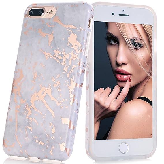 6b79720a84 BAISRKE Shiny Rose Gold Grey Marble Design Bumper Matte TPU Soft Rubber  Silicone Cover Phone Case