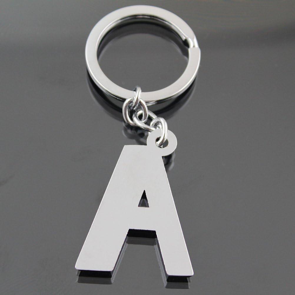 llavero del alfabeto letra una con llave a cierre f/ácil 8 x 3 x 0.2cm A toymytoy llavero inicial