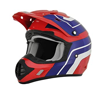 AFX fx-17 Vintage Honda Off Road MX ATV motocicleta casco, color rosso,