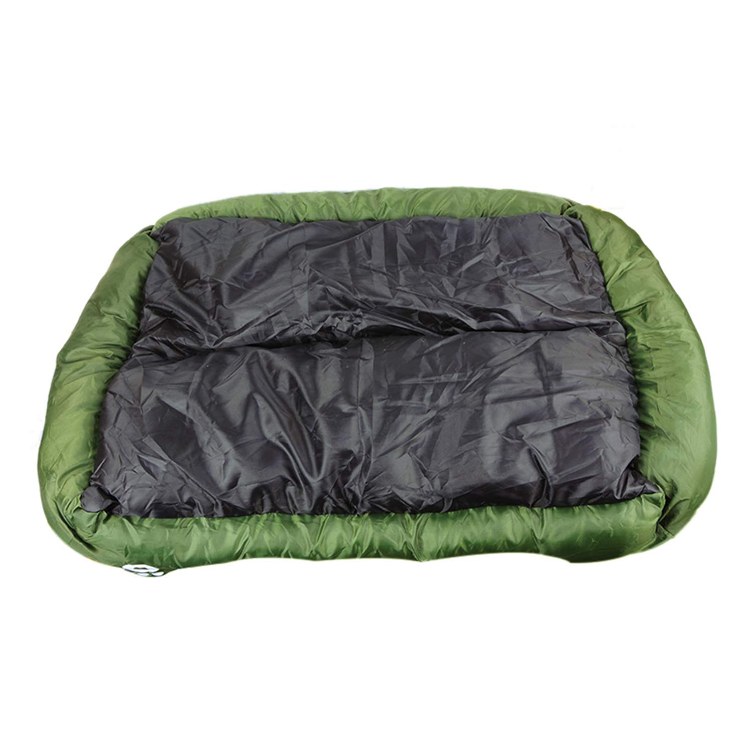 Dark green 80cmx65cmx17cmPETFDH 6 Sizes Pet Dog Bed Warming Dog House Soft Material Nest Dog Baskets Fall and Winter Warm Kennel for Cat Puppy Quality Purple 110cmx85cmx19cm