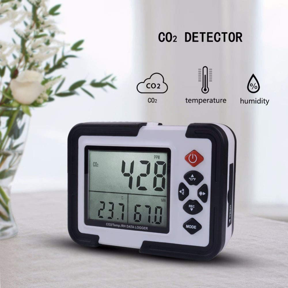 Huanyu HT-2000 - Detector de dióxido de Carbono para Interiores (0 a 9999 ppm, CO2/RH/Temp 3 en 1, Adaptador de alimentación USB): Amazon.es: Bricolaje y ...